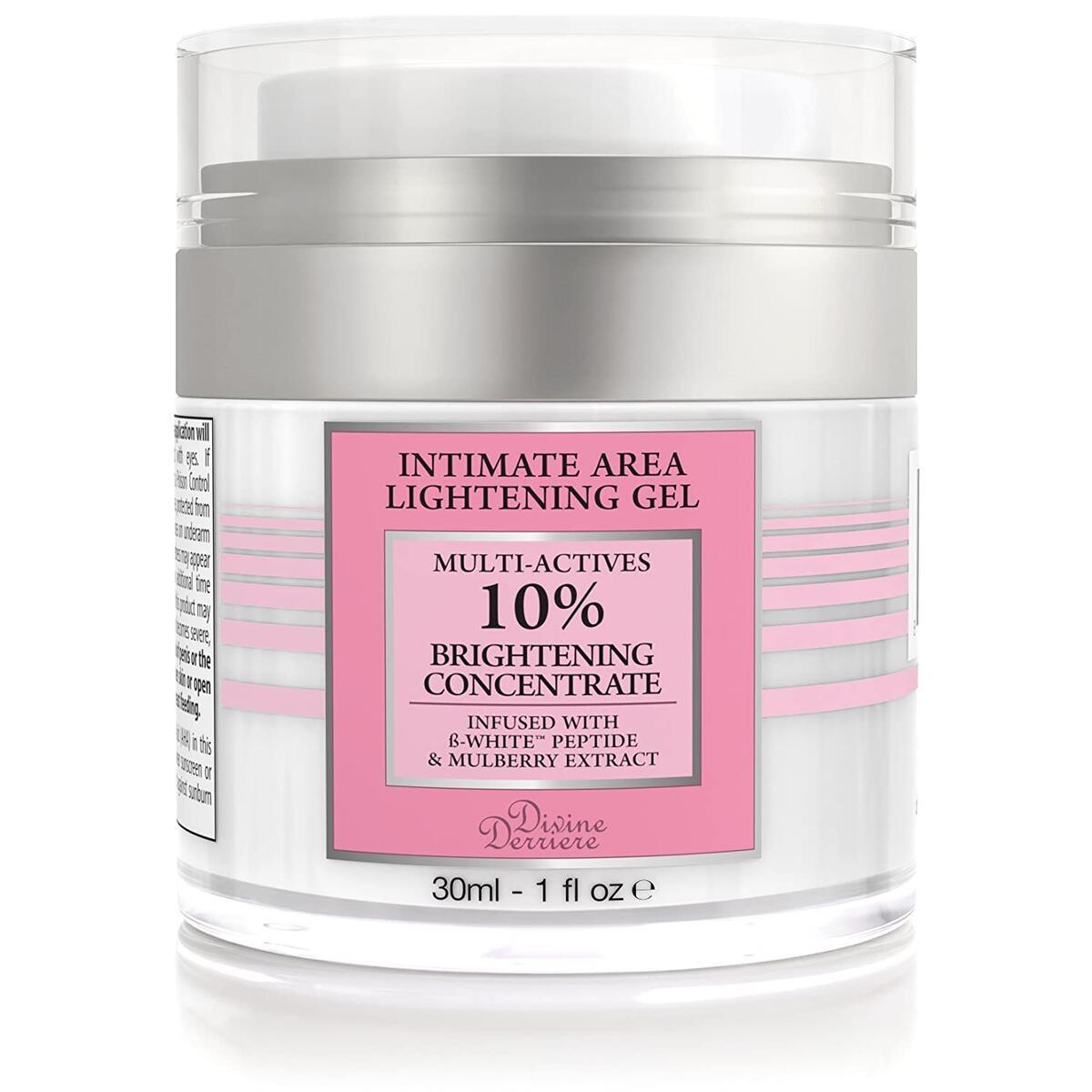 Intimate Skin Lightening Gel for Body, Face, Bikini and Sensitive Areas - Skin Whitening Cream Contains Mulberry Extract, Arbutin, B-White Peptide