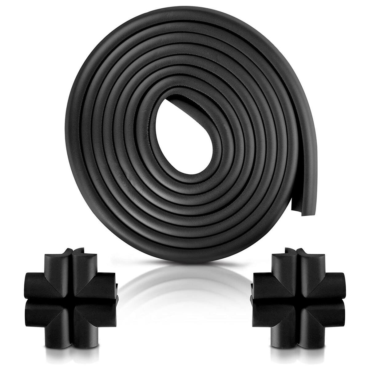 Furniture Edge and Corner Guards | 20.4ft Protective Foam Cushion | 18ft Bumper 8 Adhesive Childsafe Corners