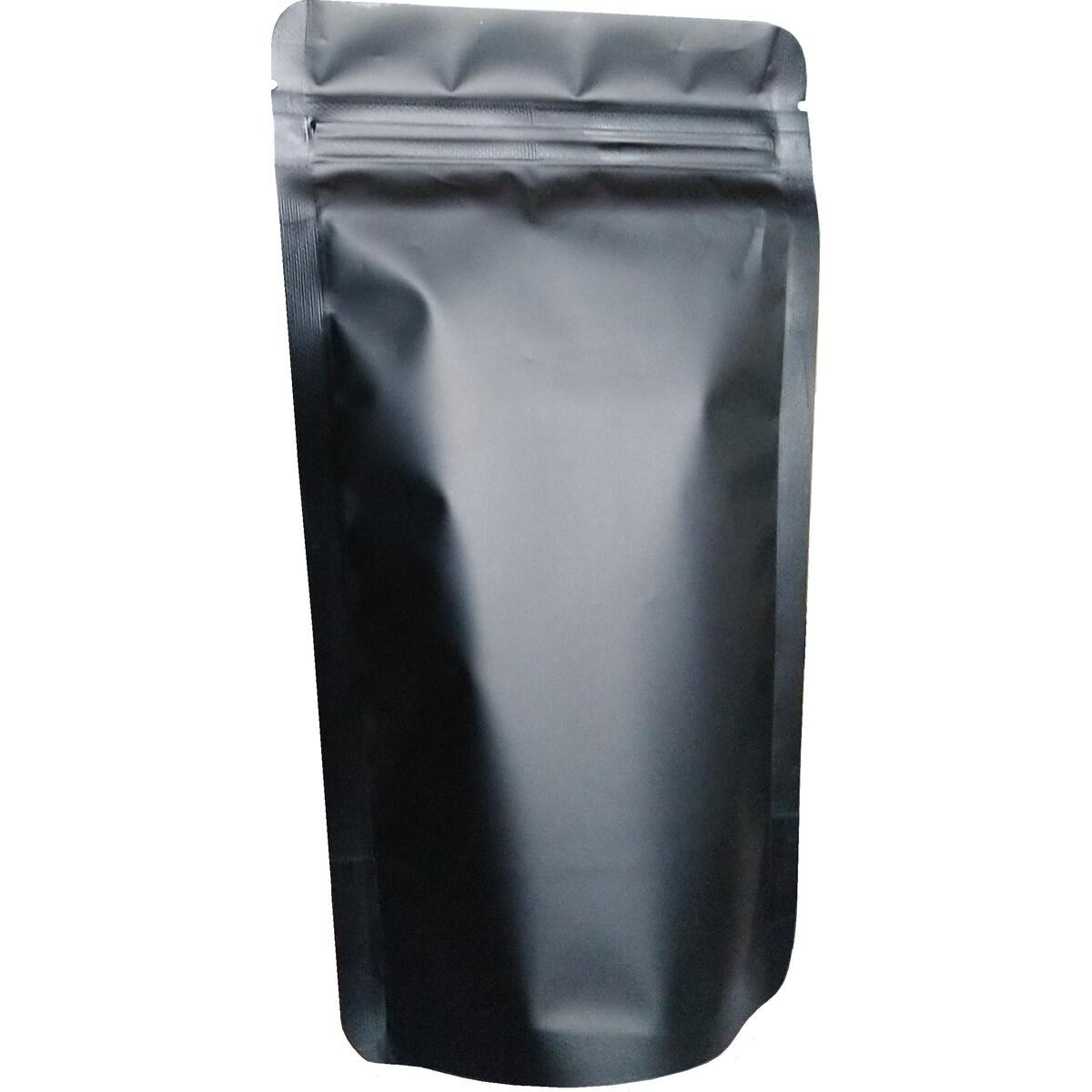 110 Pack Smell Proof Bags Mylar Bags Ziplock Stand Up 100 Pack 425ml (5X8 Inch) Plus 10 Pack 2400ml (8.5X11.5 Inch) Resealable Matte Black Airtight Zipper Pouches