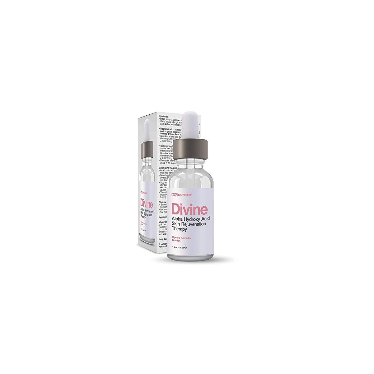 Glycolic Acid 40% (Professional Chemical Peel) Pro Strength Alpha Hydroxy Acid Skin Peel - Intense Anti-Aging Treatment For Wrinkles, Fine Lines, Brown Spots, and Acne Scarring