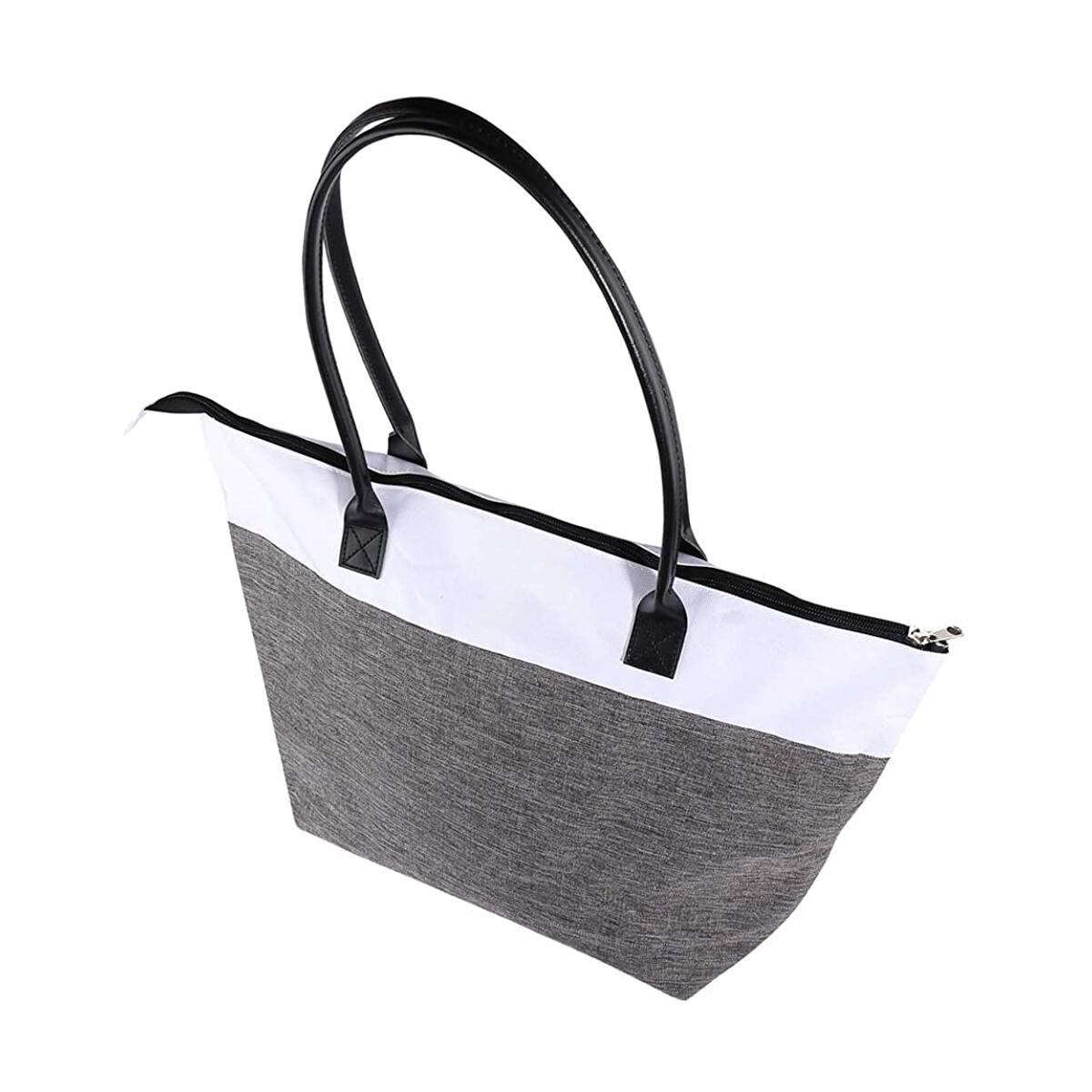 Tote Bag for Women Canvas Tote Handbags Leather Handle Water Resistant Shoulder Purse
