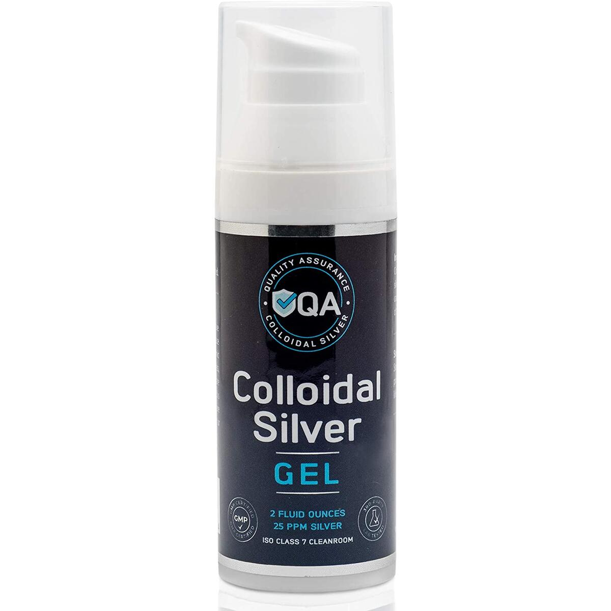 Colloidal Silver Gel - Topical Silver Ointment for Hands, Face & Skin