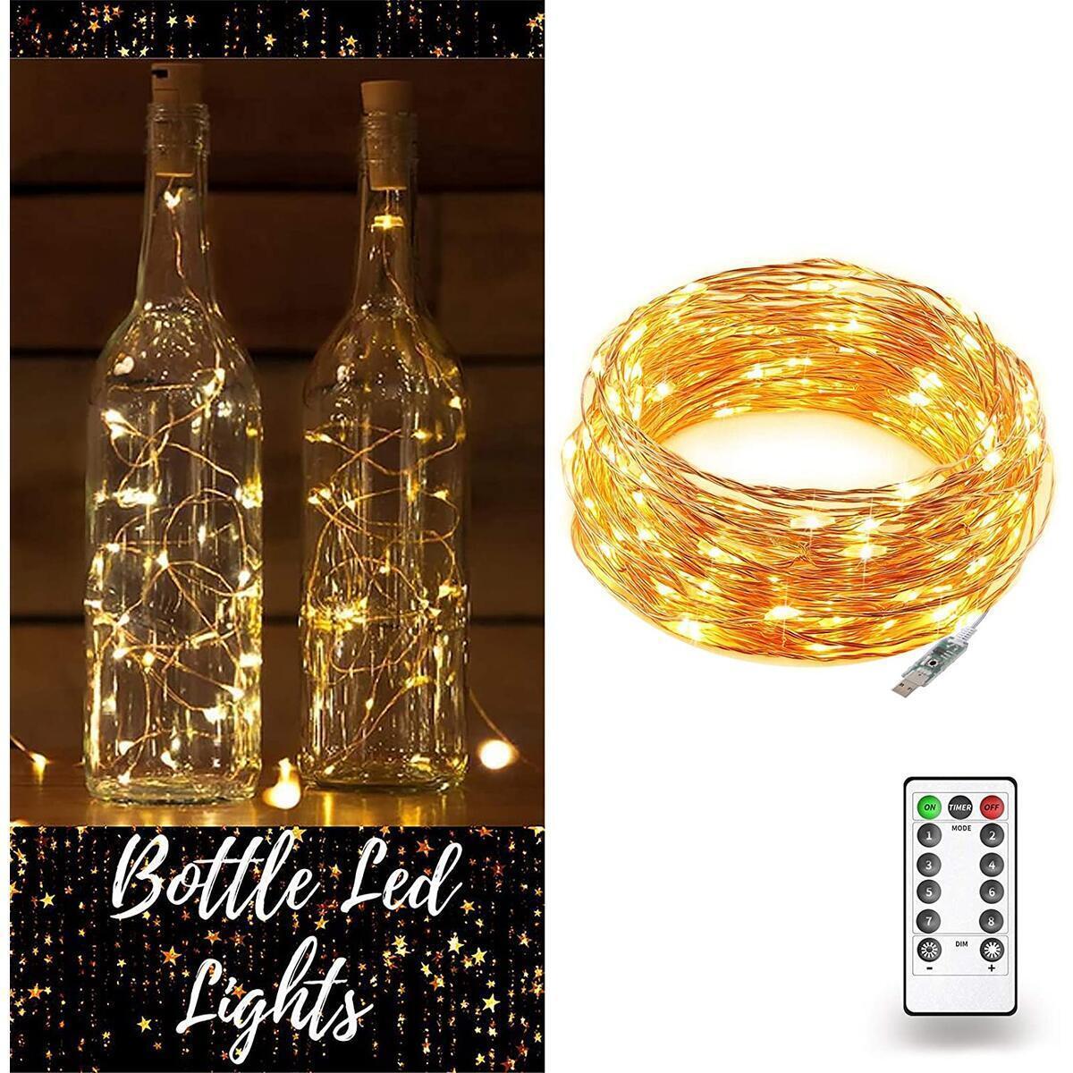 Fairy Lights (66FT, 200 LEDs) (Warm White)