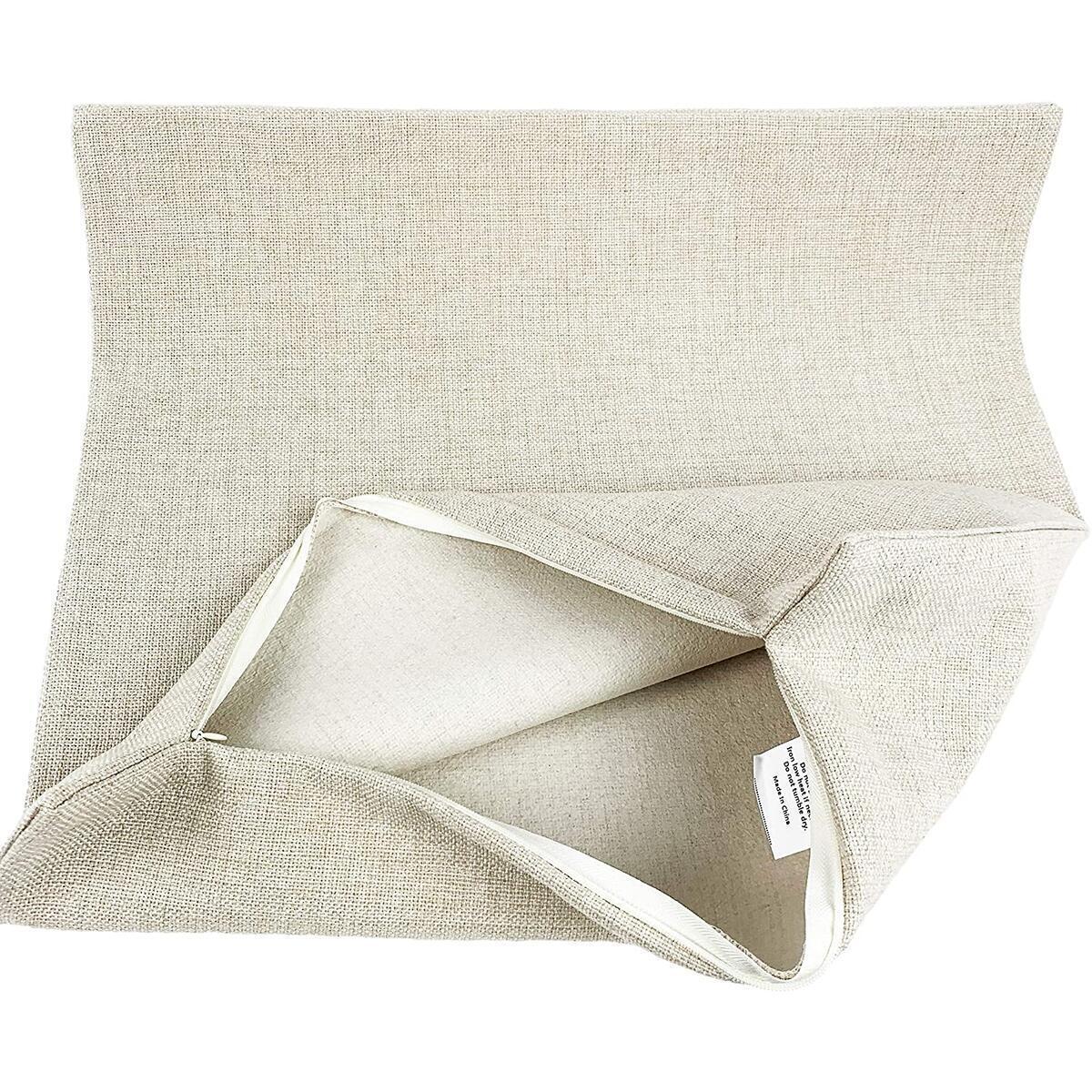 DrupsCo 18x18 Yorkie Pillow Case, Cotton Linen Yorkie Decor Pillow Cover