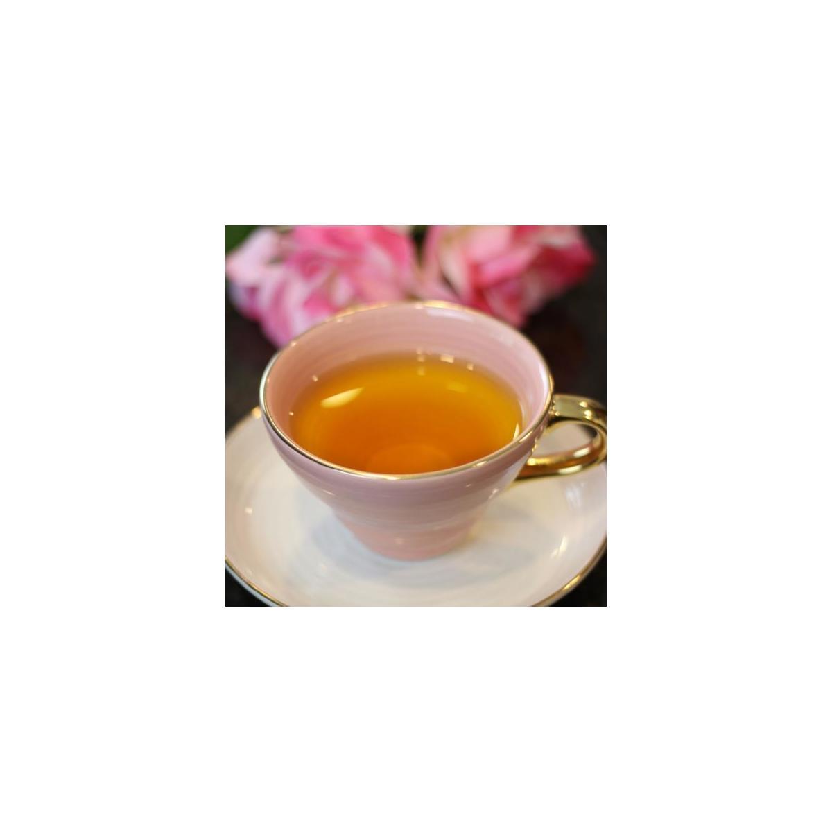 Saffron Gunpowder Green Tea Organic Non Gmo Ethically Sourced