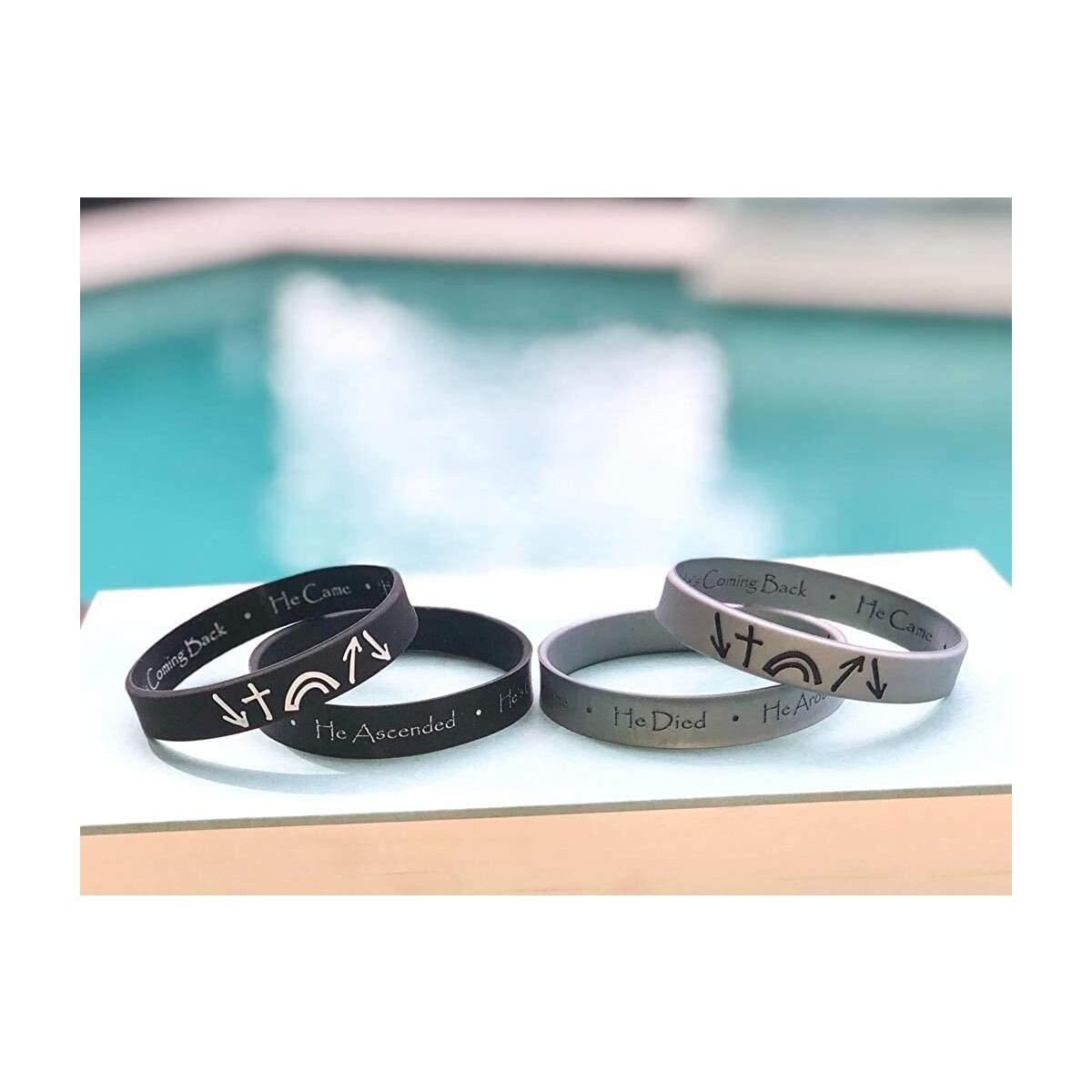 Christian Inspirational Bracelet Wristbands, Religious Easter Gifts for Men, Women, Teens - Reversible Bible Bracelets - John 3:16, Gospel Message, Gifts for Churches…