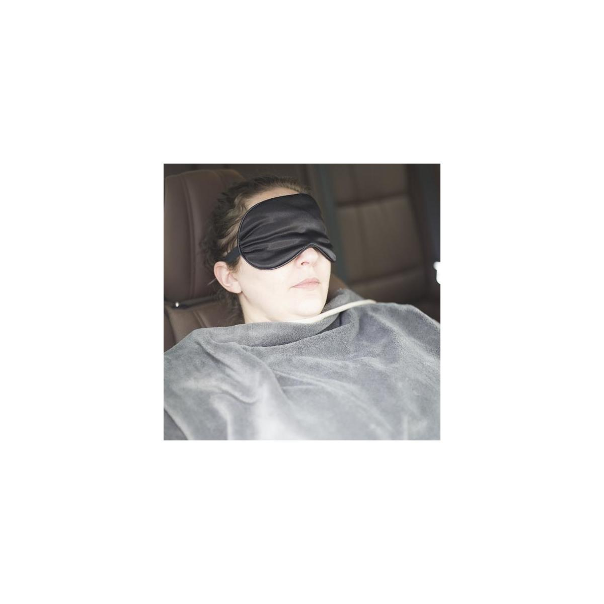 CoziCrown  Travel Blanket  with Bonus  Sleep Eye Mask featured Zipper Pocket and Luggage Handle Loop