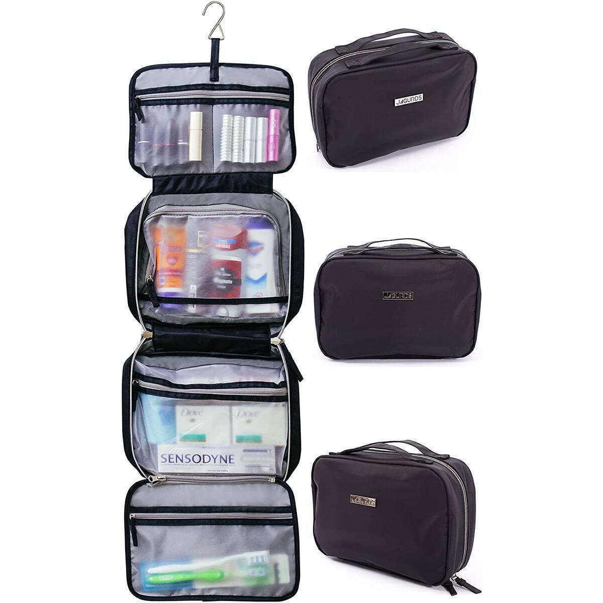 Jagurds Hanging Travel Toiletry Bag for Men, Women and Kids