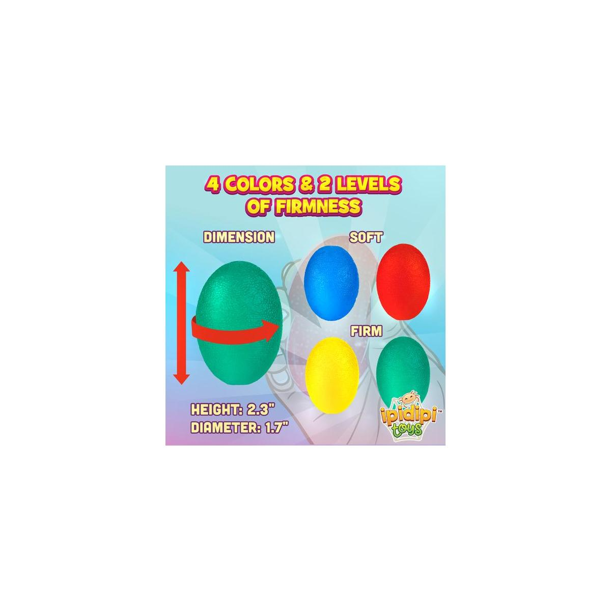 Egg Grippers Set 4 Piece - Stress Relief Ball