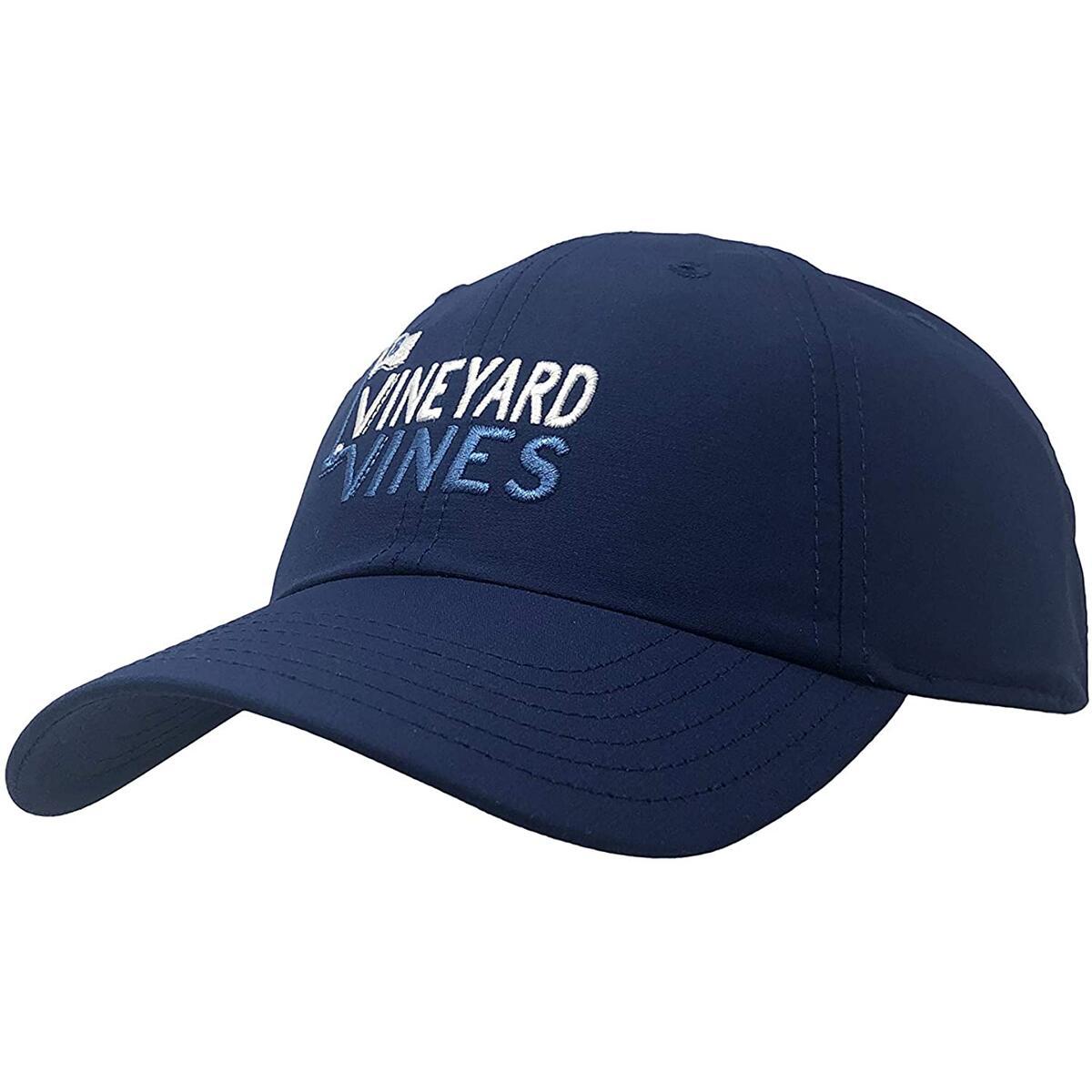 Vineyard Vines High Profile Mesh Back Truckers Hat OSFA Adjustable Cap (One Size, Navy Performance Hat)