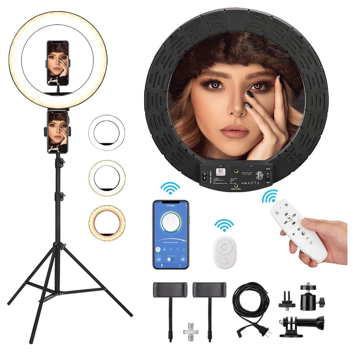 14 inch Ring Light Kit with 76