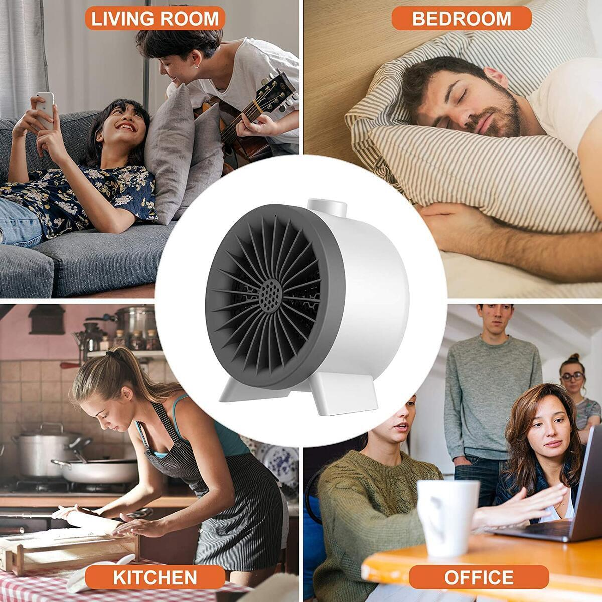 SEGOAL Small Space Heater Fan Ceramic Heater Fast Heating Desk Heater (REBATE VALID WITHOUT COUPON! )