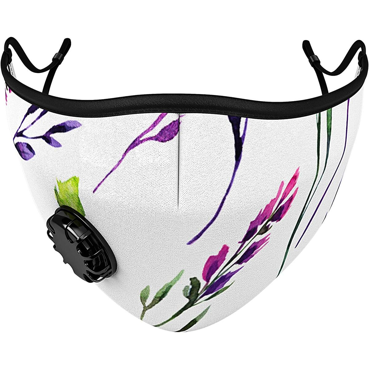 Grove Mask Face Mask w/ 7X PM2.5 Filters - Reusable Cloth Face Mask for Pollen, Smoke, Dust, Allergen - Perfect for Cycling, Running, Training, Motorcycle (Botanical)…