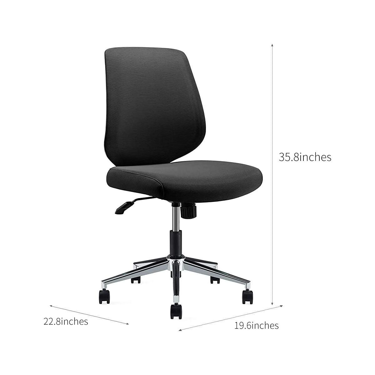 Ergonomics Shield-Shape Backrest Office Chair with Metal Plating Base and Gray Back Frame (VX013)