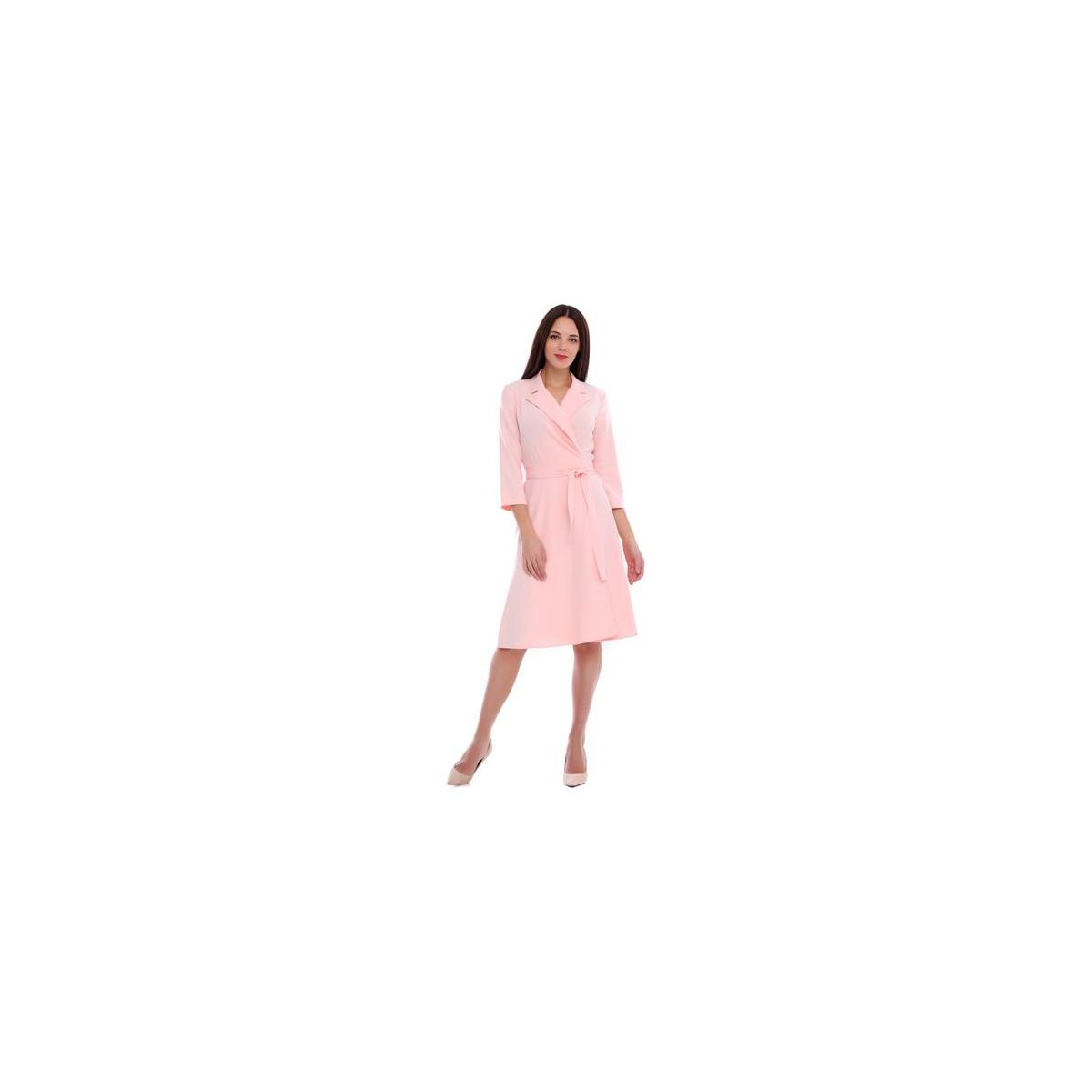 LadyLike Women's Classic 3/4 Sleeve V Neck Modest A-Line Belted Work Office Dress (ALL sizes and ALL colors)