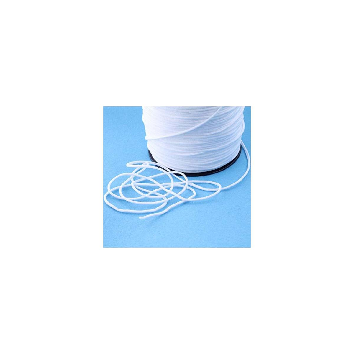 110 Yards Elastic String for Masks Sewing - 1/8 inch Comforatable Elastic Cord for Masks, Heavy Stretch Elastic Bands for Sewing