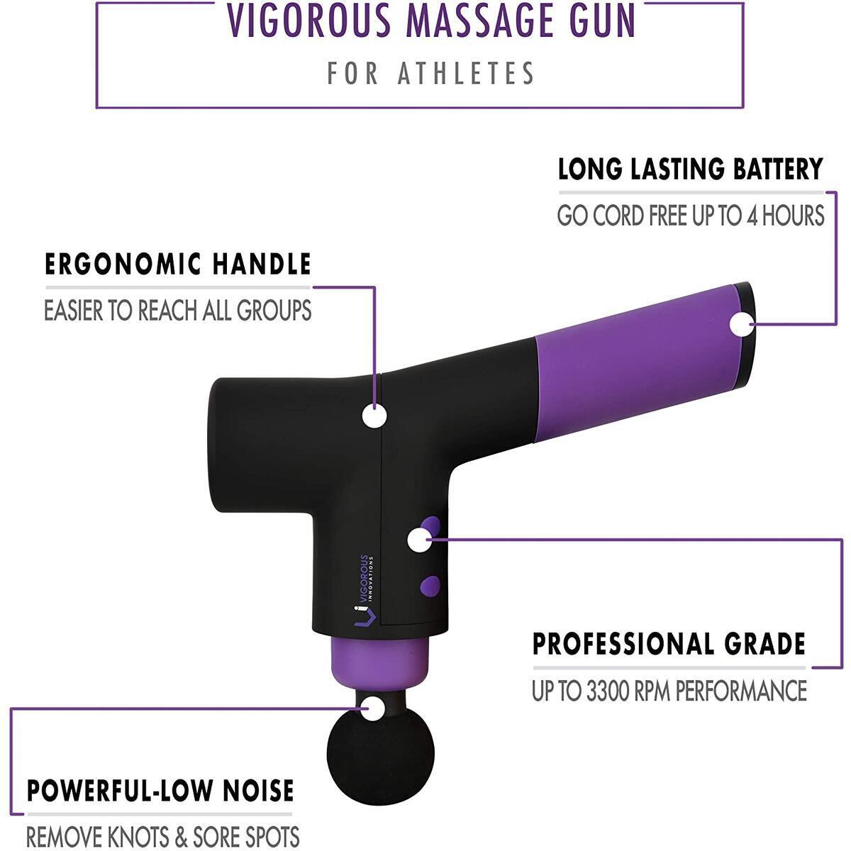VI PRO Quiet Percussion Massage Gun - Professional Portable Deep Tissue Massage