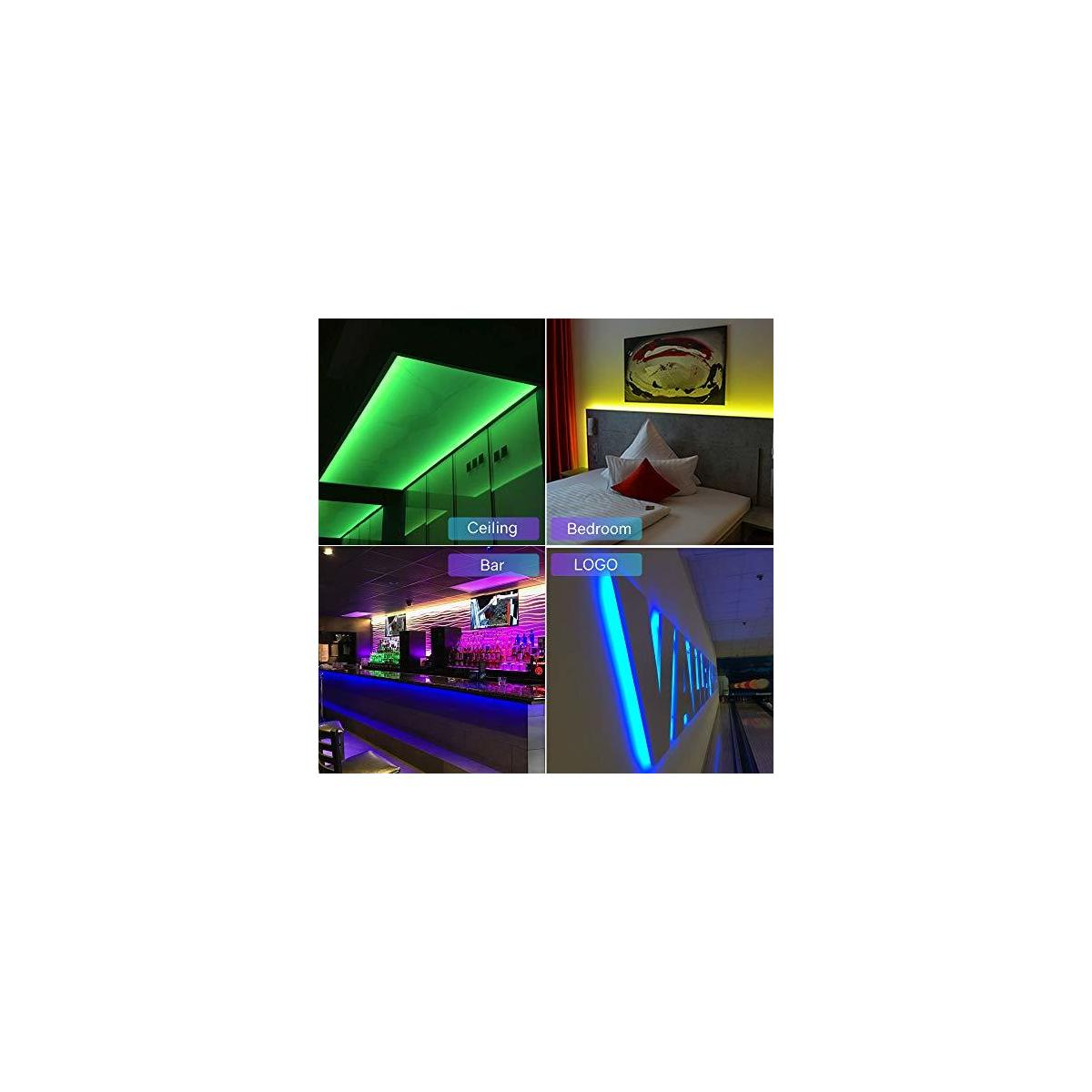 10M RGB LED Strip Lights Kit