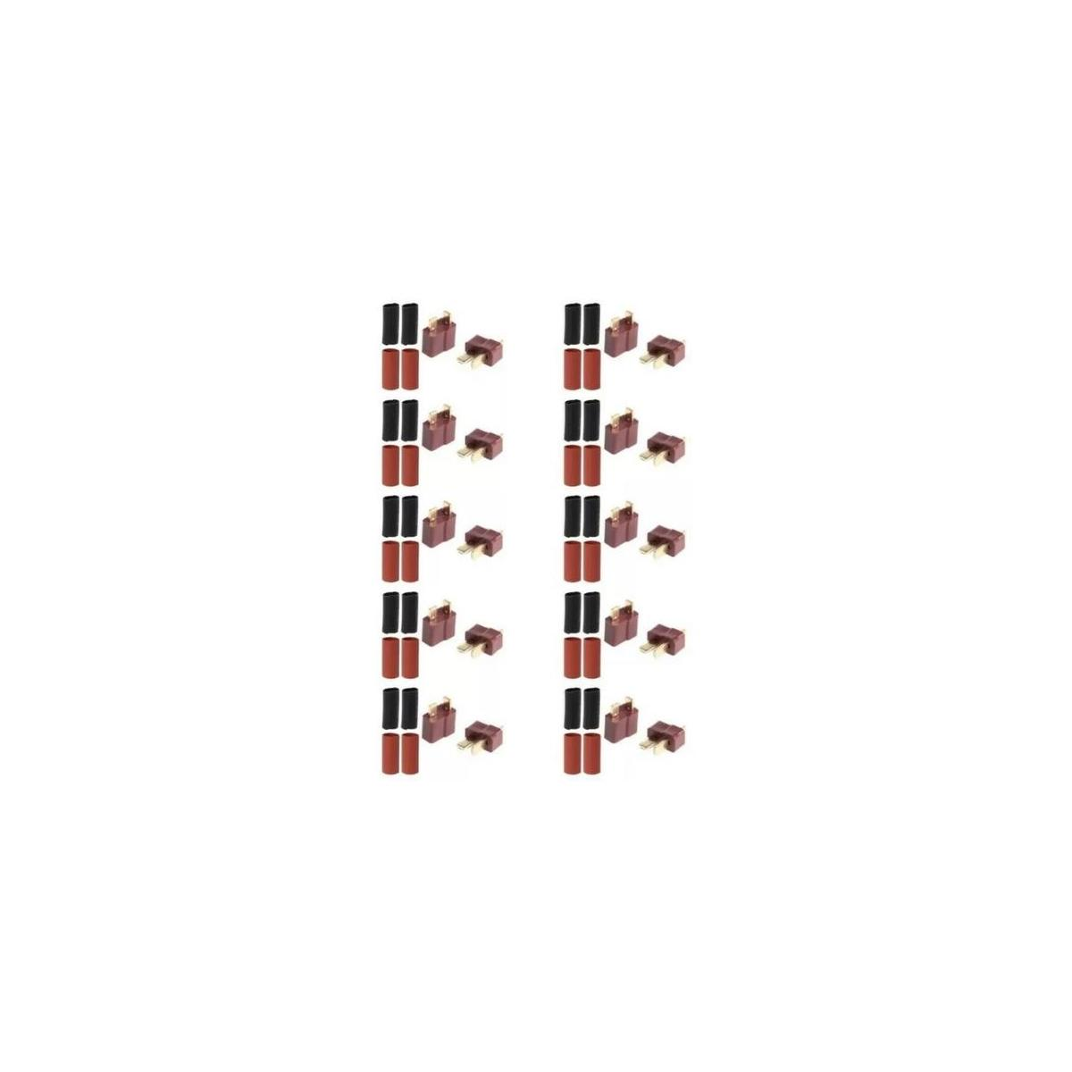 10 Pairs Ultra T-Plug Connectors Deans Style Female Male Plugs