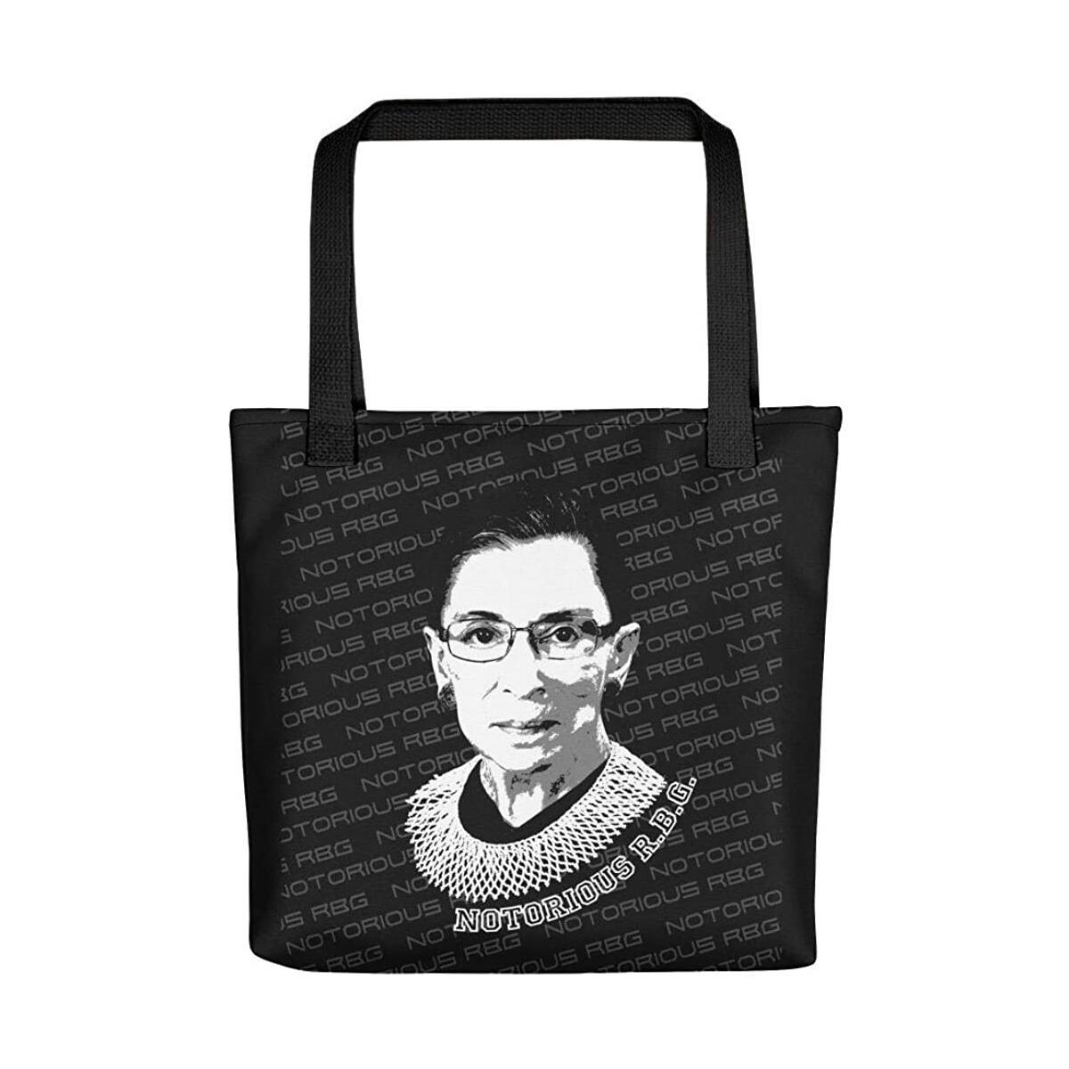 RBG Tote Bag Ruth Bader Ginsburg Notorious R.B.G. Tote Bag