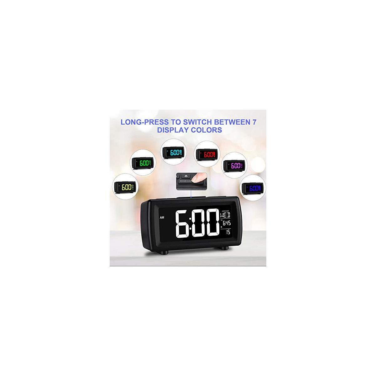 Clock Radio with 7 Display Color