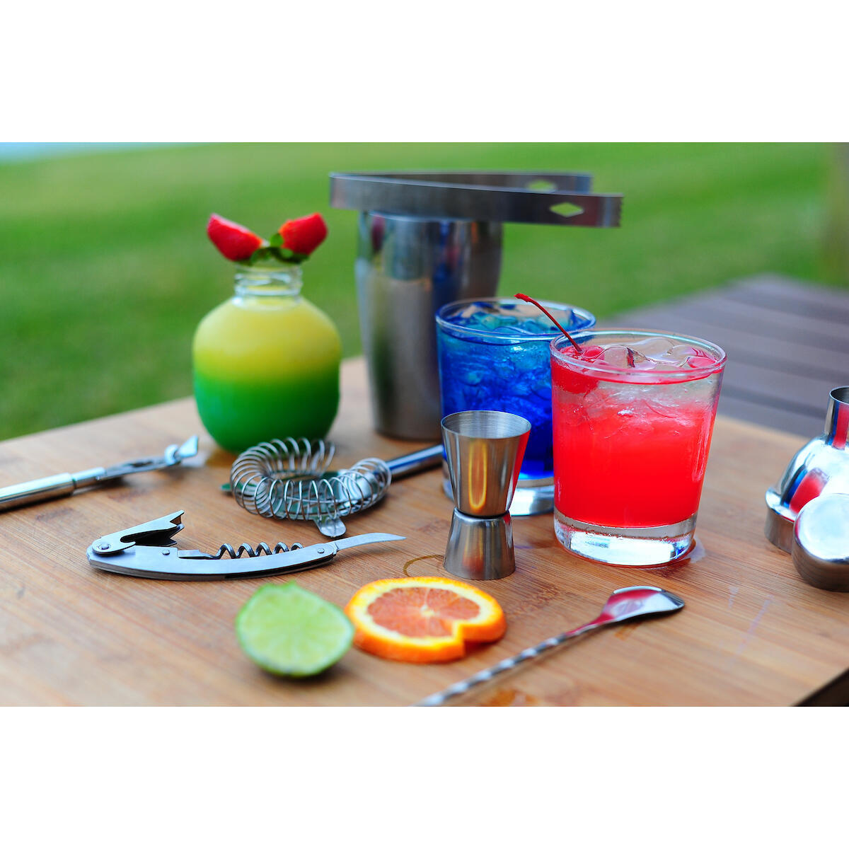 Taylor & Sons 9 piece Stainless Steel Cocktail Shaker Bartender Kit