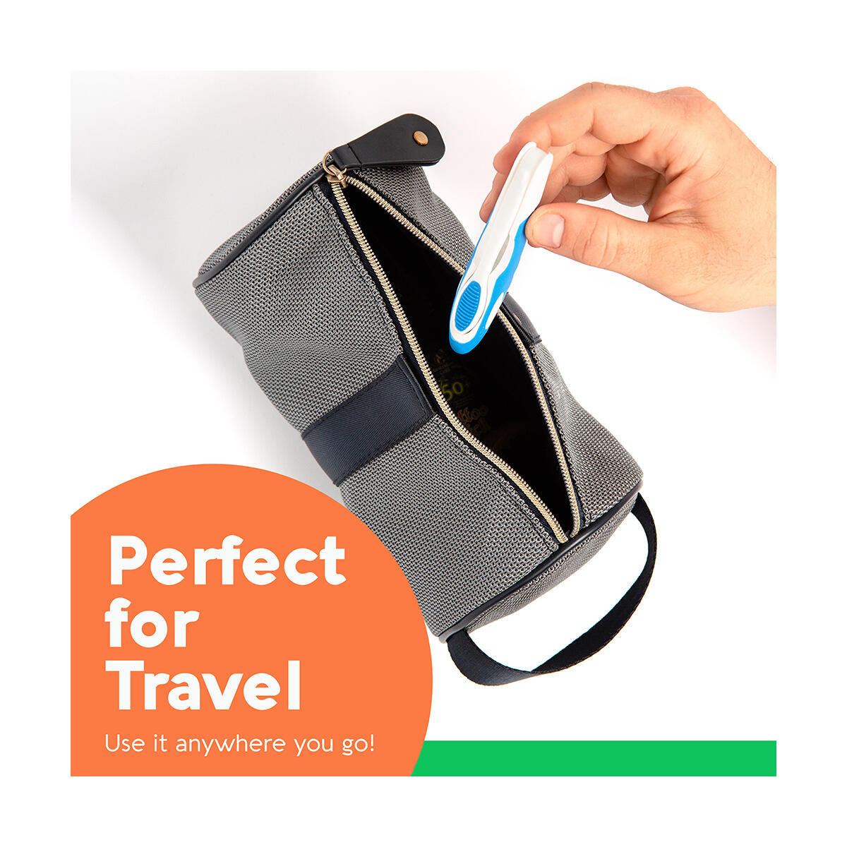 Folding Travel Toothbrush (3 Pack) | Portable & Compact Size with Antibacterial Bristles | Perfect for Camping, Hiking, Adults, Kids & More!