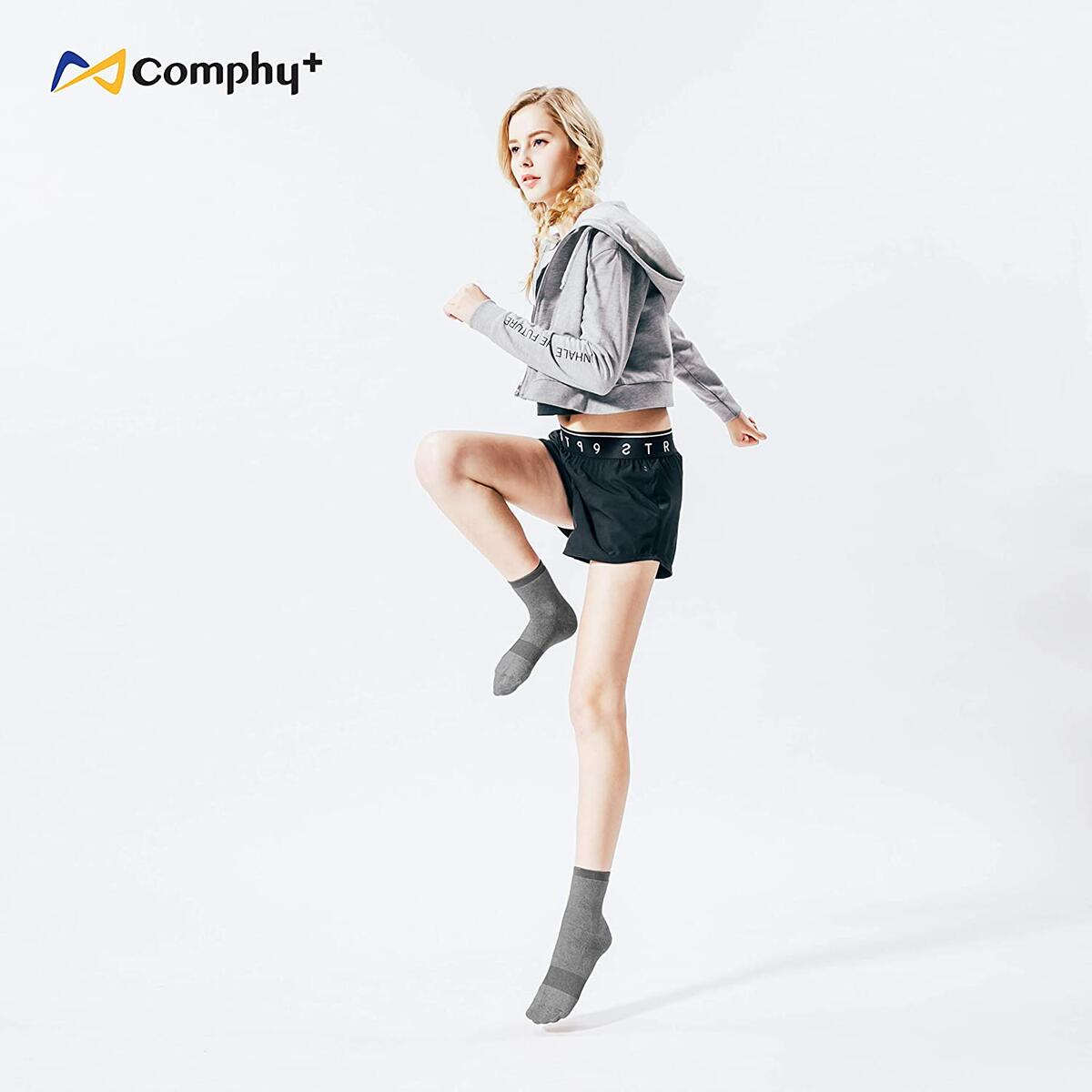 Comphy+ Hiking Socks- Moisture Wicking, Long Distance Socks, No Cotton,Men Women Compression Socks