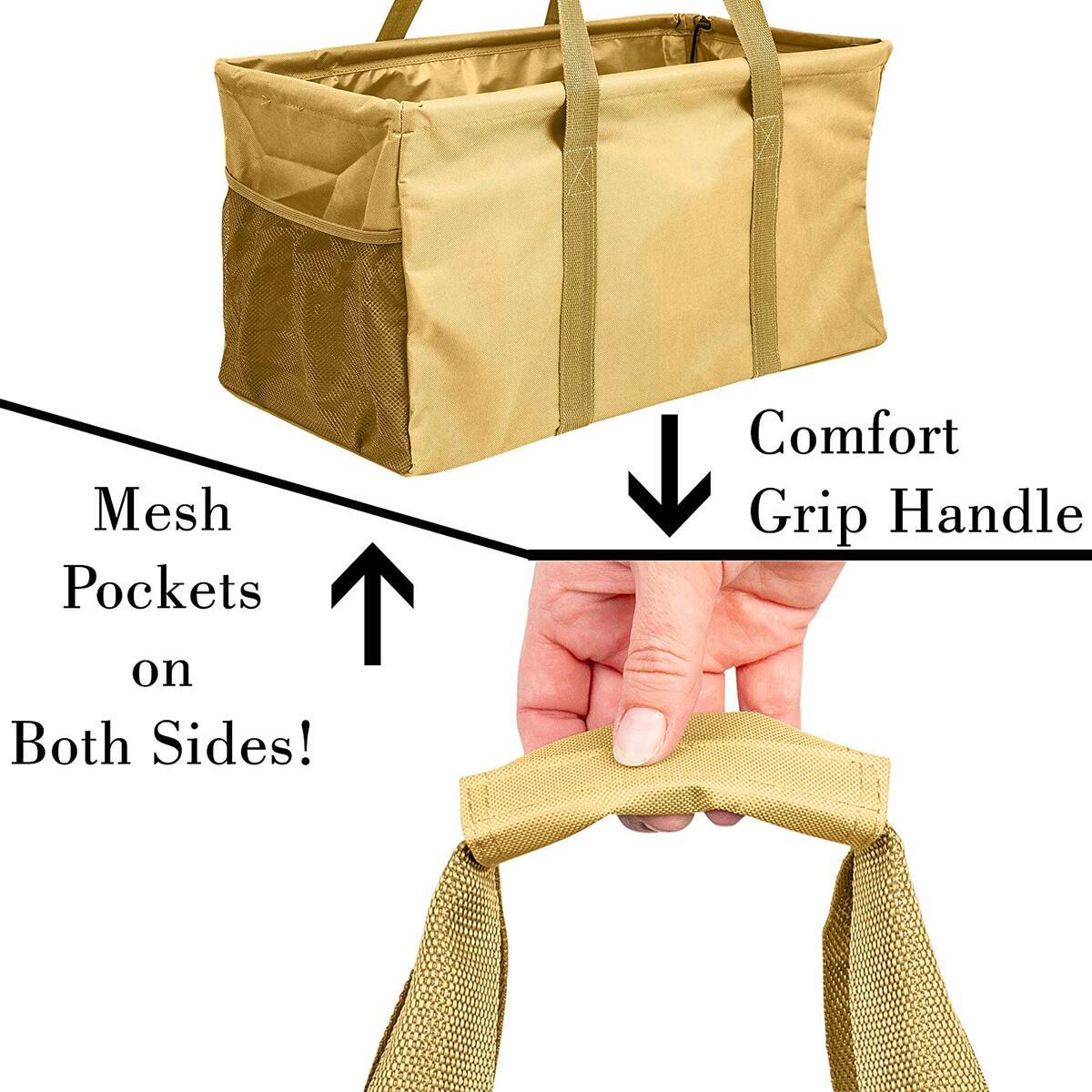 Extra Large Utility Tote Bag - Khaki