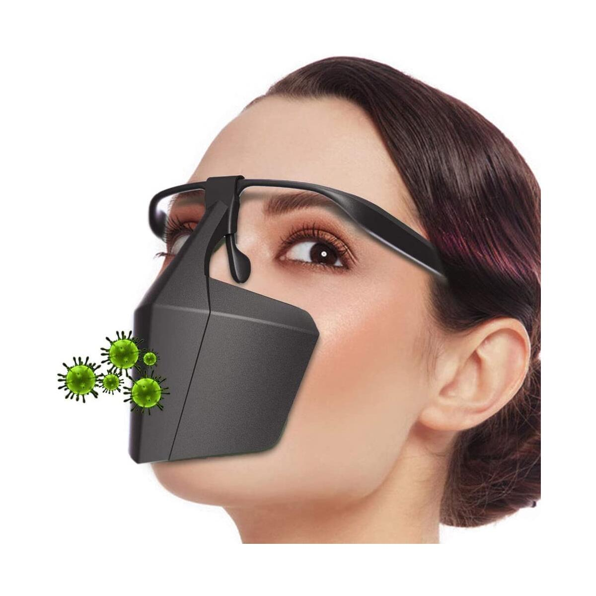 Nose Protection Cover | Protect your nose with Nose Shield | Unisex | for any head and nose size | Powerlap Pro | Nose Shield Pro Gear Matt Black | for Protection & Kitchen and General protection