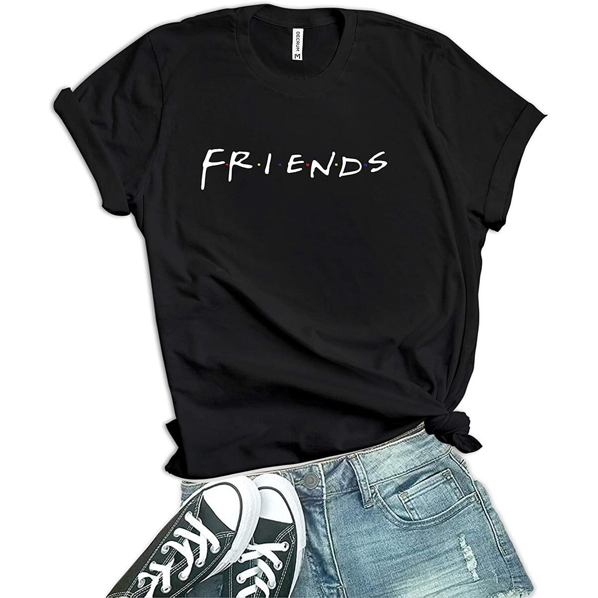 Womens Friends Shirt - TV Show Merchandise | 2 Colors (S - 2XL Sizes)