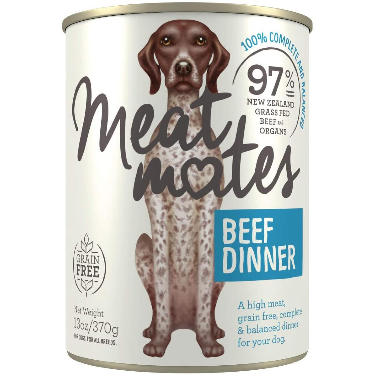 Meat Mates BPA-Free & Gelatin-Free Canned Dog Food - Beef 12 Pack
