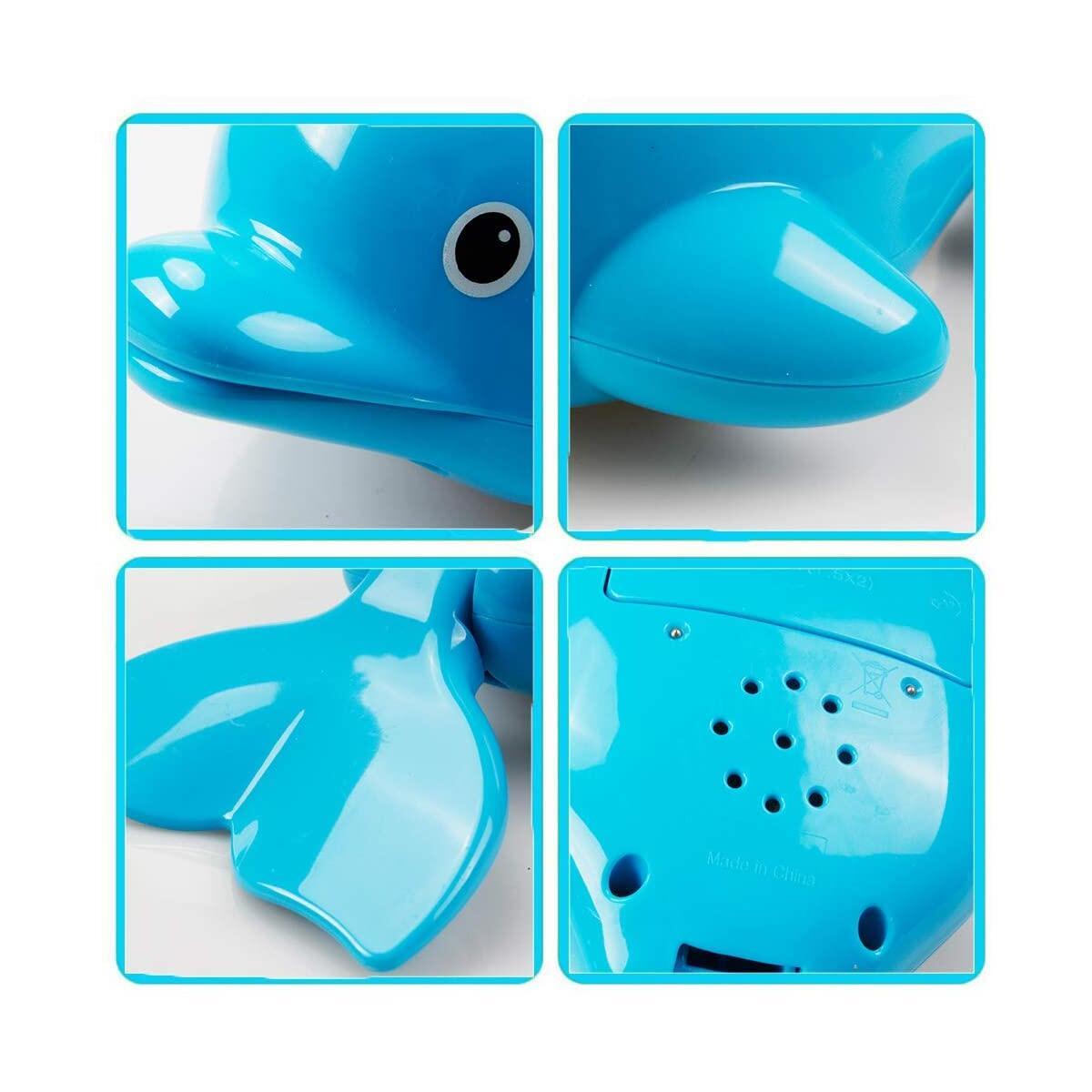 WISHTIME Bathtub Toys Pool Toys for Kids Electric Spray Water Floating Dolphin Fountain Bath Toys Bathtime Tub Toys Fun Shower Time for Toddlers Kids Boys Girls