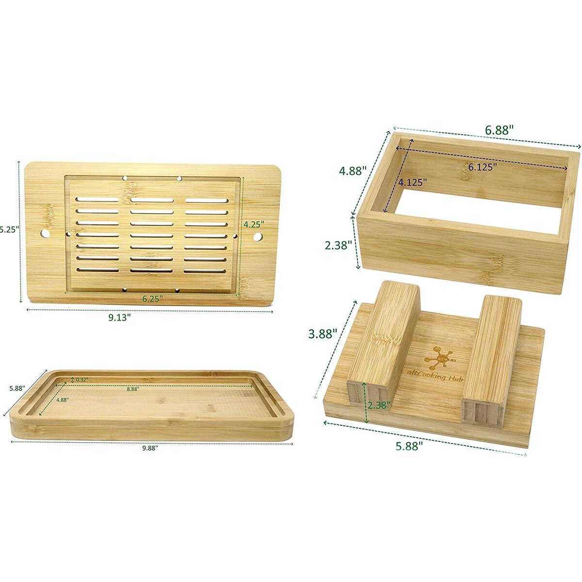 Bamboo Tofu Press & Tofu Maker Mold Set with Drip Tray & built-in drainer (Final Price: $19.2 with additional 10% Coupon in Amazon)
