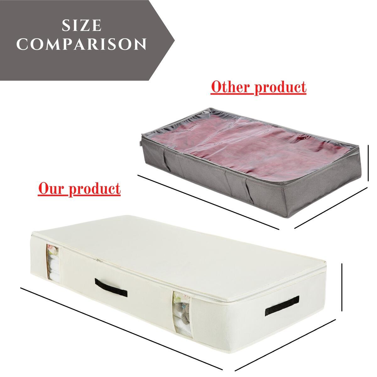 Foldable Underbed Storage Bag + 2 Shoe Bag Bonus