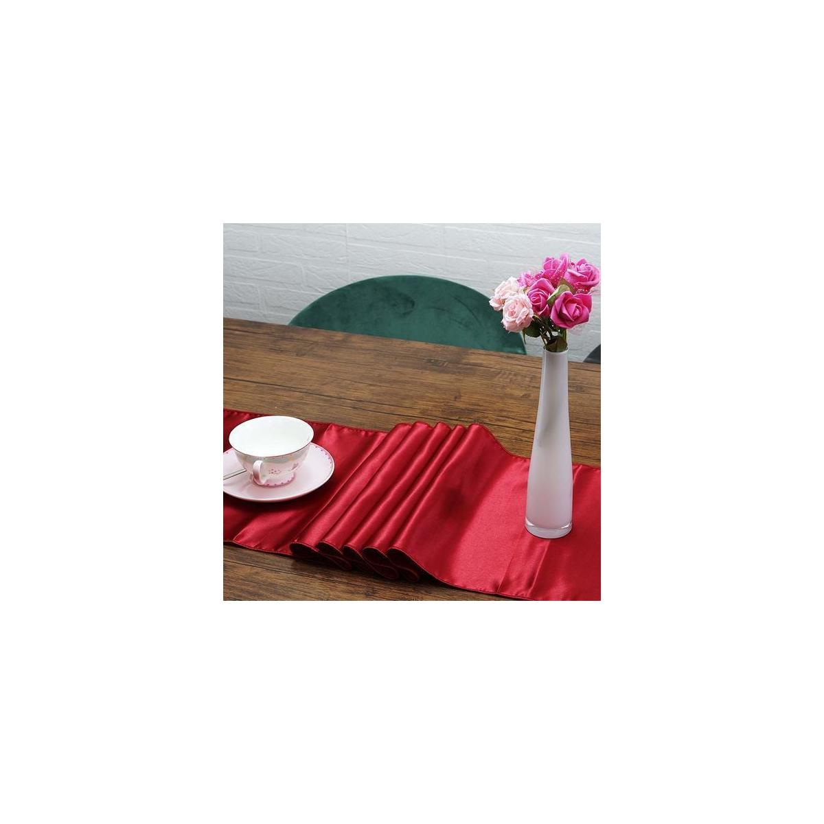 Premium satin table runners - Red (pack of 10)