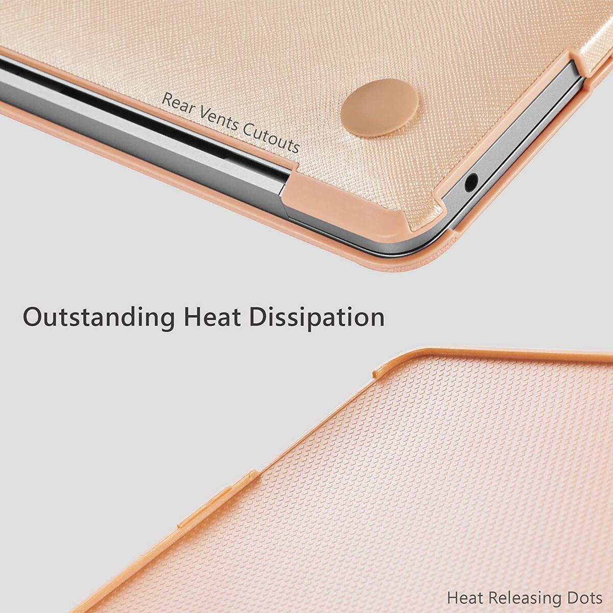 PROXA MacBook Air Retina 13 inch Case Released 2018 & 2019, Splendor Series Hardshell Case Cover for MacBook Air Retina 13 inch 2018 & 2019, A1932-Rose Gold