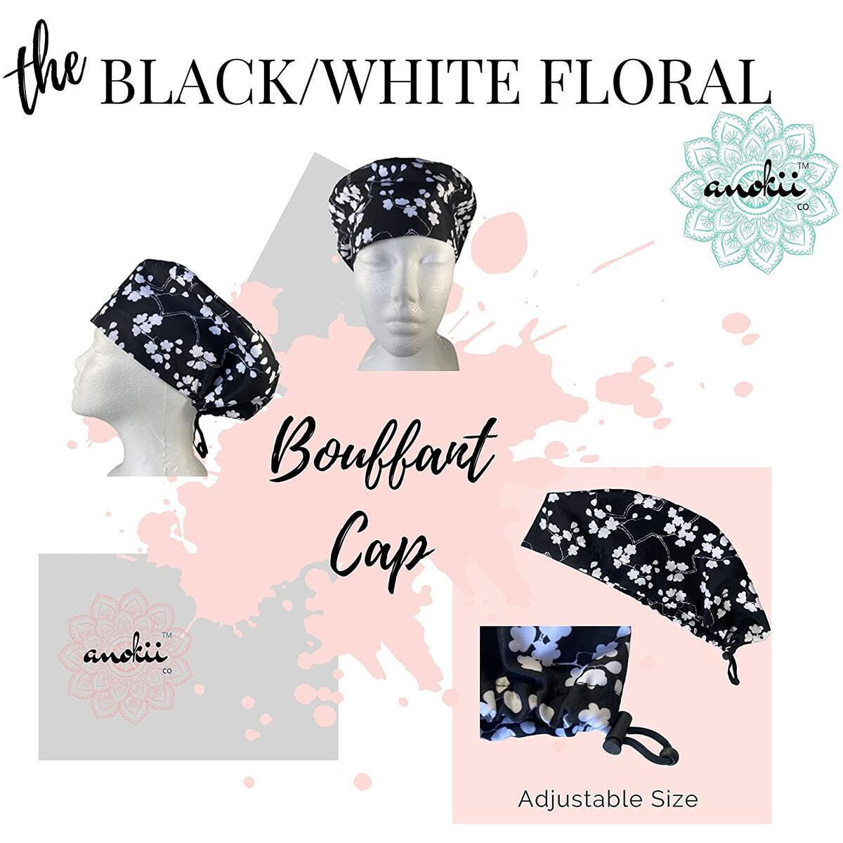 ANOKII CO Bouffant Hair Cap - Premium Adjustable Bonnet for Women Lightweight
