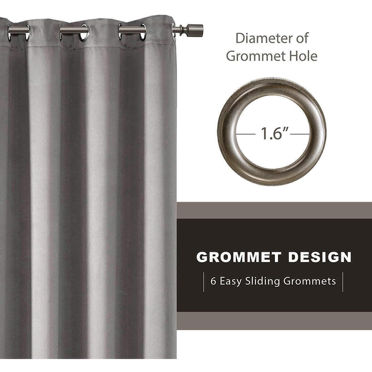 ANY COLOR - 42x84 - Blackout Curtains for Bedroom   Thermal Insulated Room Darkening Window Treatments W/Grommet Top   Triple Weave   Ideal for Nursery Or Kids Room   Any Color 42x84 - 2 Panels