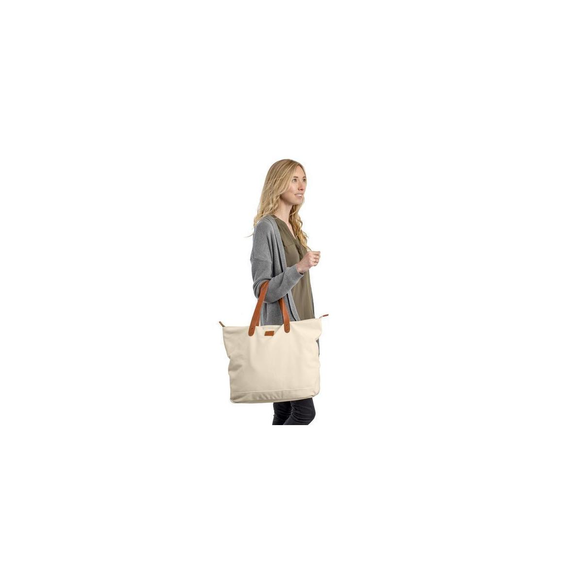 Everyday Canvas Tote Bag - Large with Interior Pockets and Zipper Top