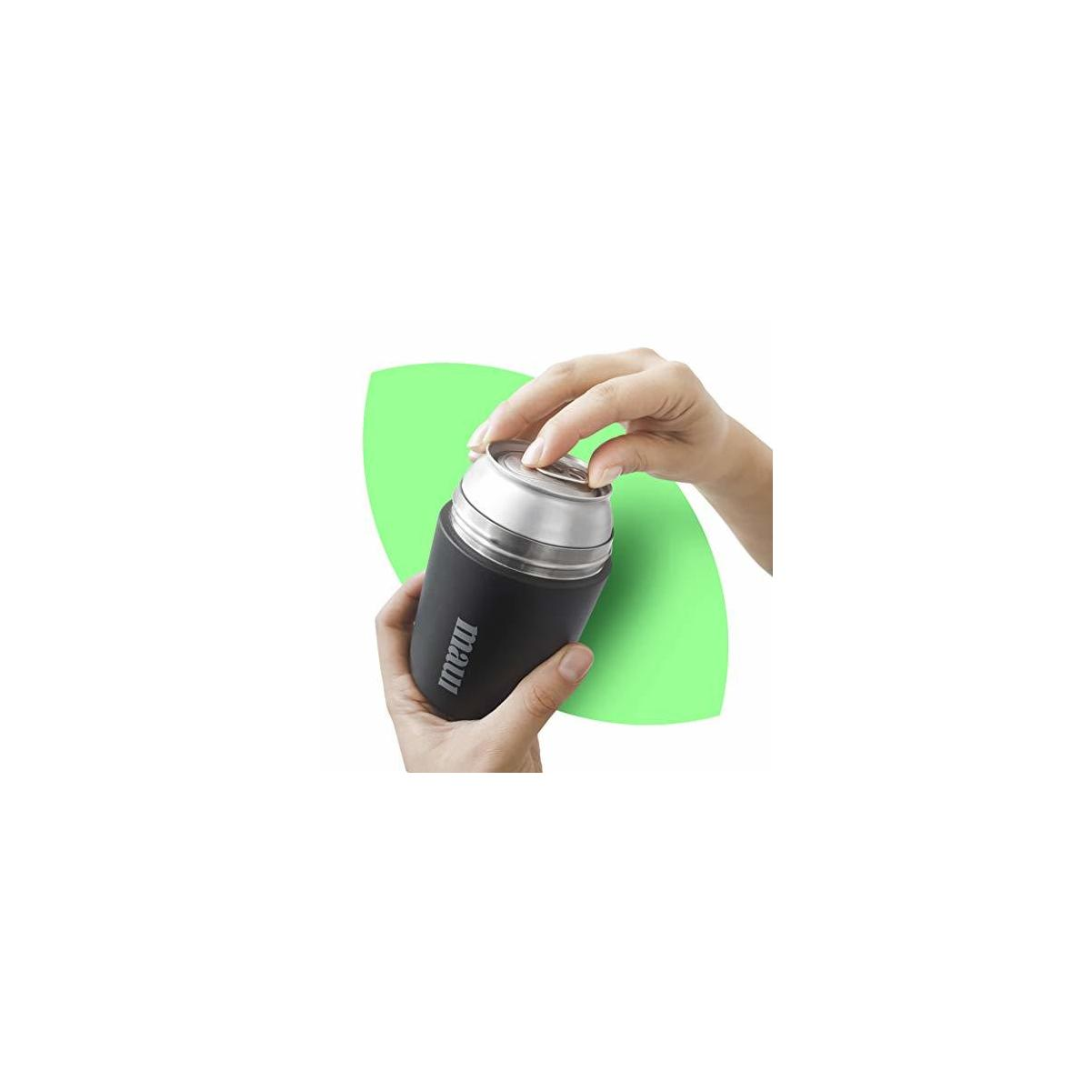 Green Maui, Beer Bottle Insulator Holder | Stainless Steel Insulated Can Cooler with Beer Opener | Eco Friendly Smart Vacuum Bottle