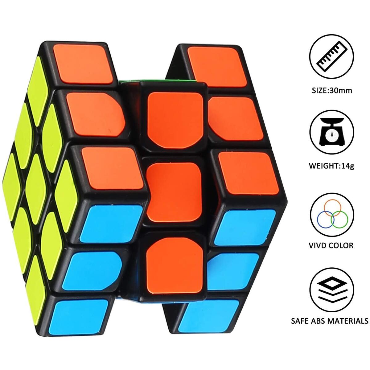 Mini Cube Puzzle Toy (40 Pack), Eco-Friendly Material with Vivid Colors, Magic Cube Goody Bag Filler Birthday Gift for Boy Girl Kid Child, Perfect Party Favor School Supplies Puzzle Game Boxes