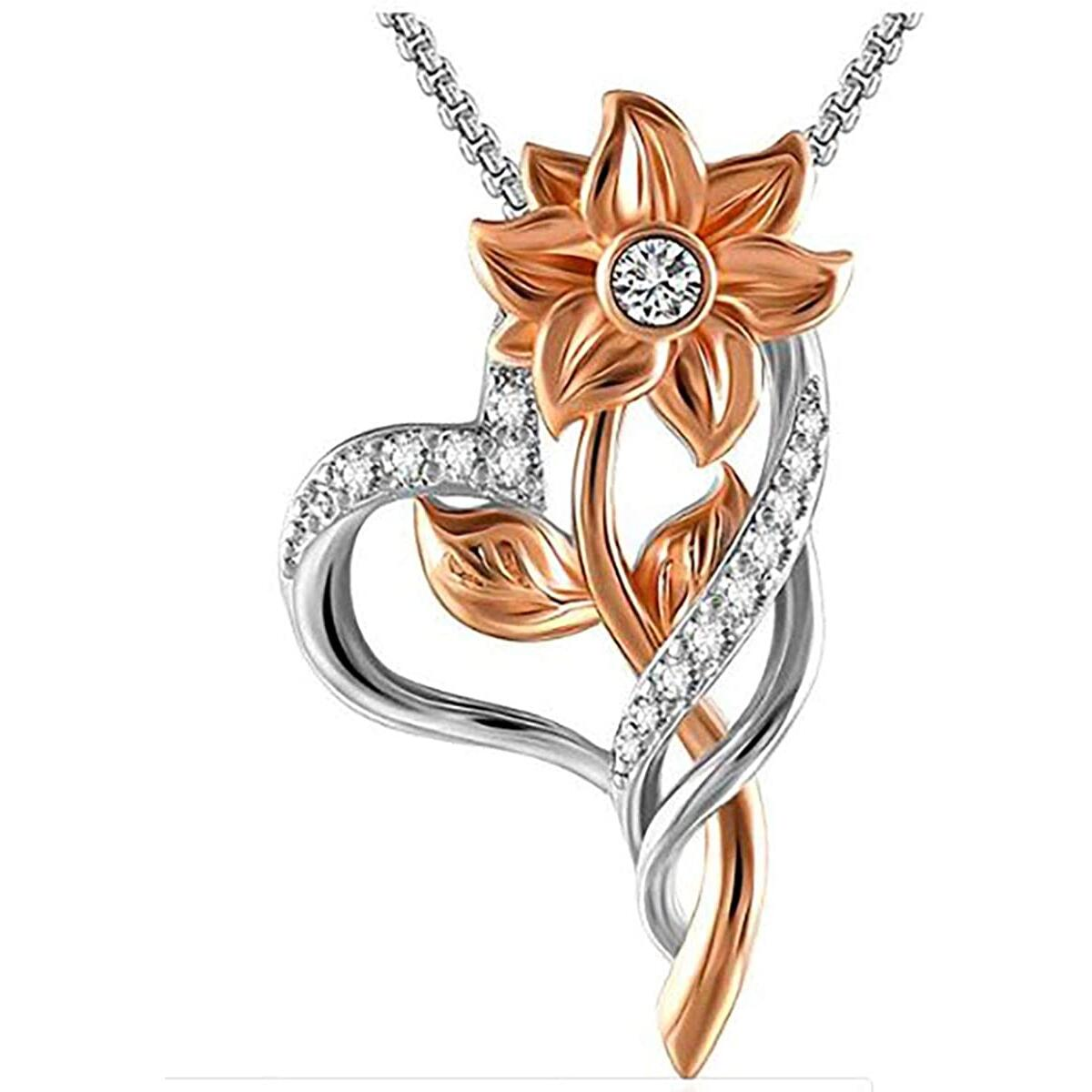 Quality Scape Women's Gorgeous Sunflower Pendant Necklace With Gift Box