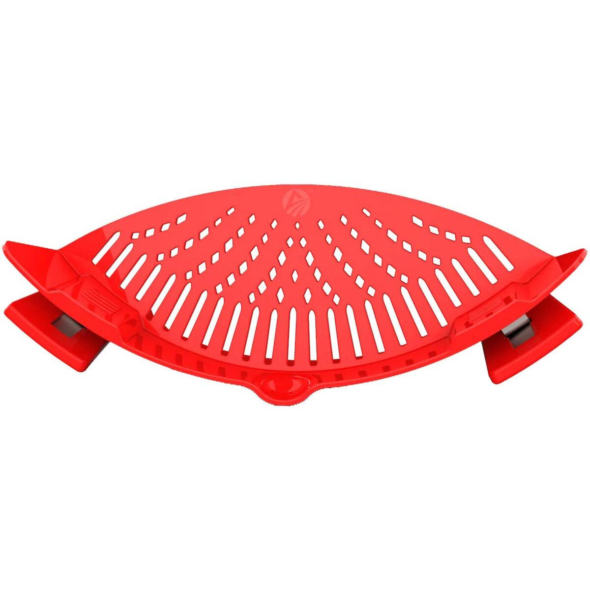 Clip On Strainer Silicone - Universal Fit for all Pots and Bowls | Snap On Strainer for Pasta, Meat, Vegetables, Fruit | Silicone Colander for Kitchen | Easily Drain Food | Space Saving by Arlig