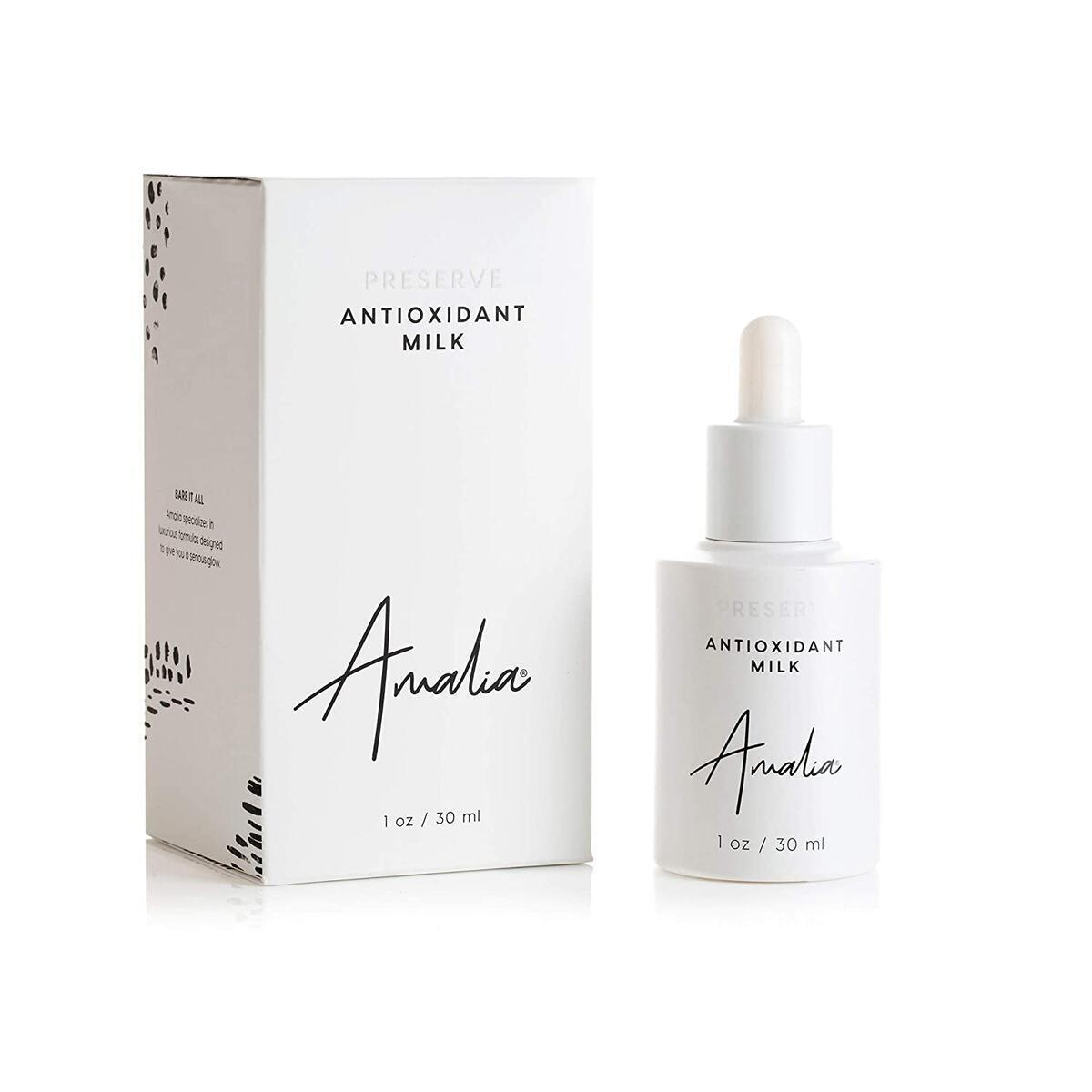 Amalia Antioxidant Milk Vitamin C Serum - Brightening Formula with Anti-Aging Niacinamide (B3) & Antioxidant Packed Phloretin for All Skin Types