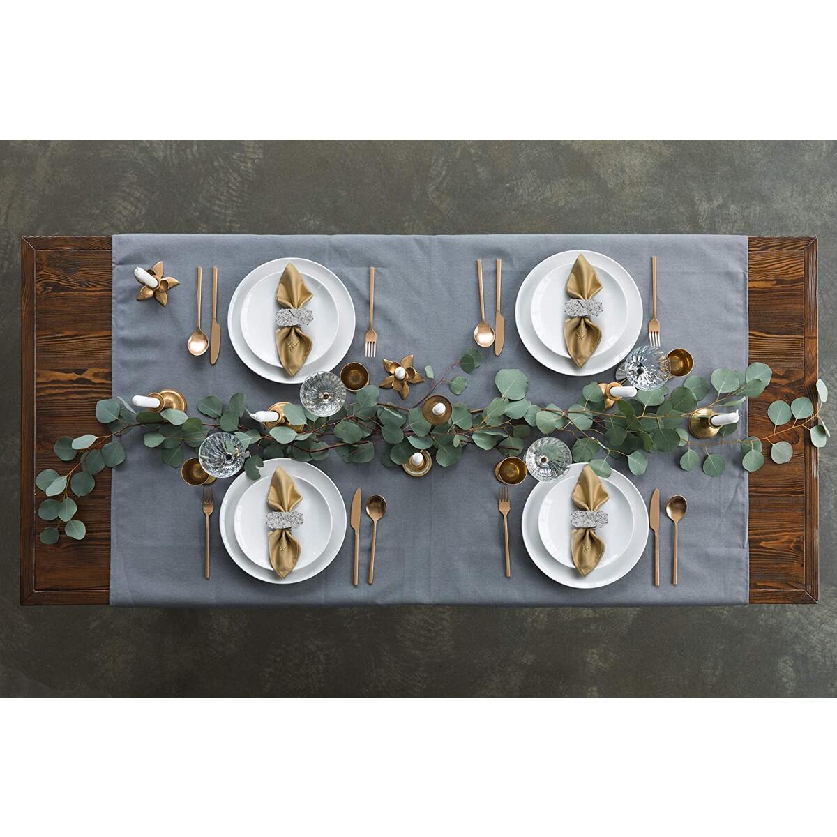 Napkin Ring Set for Wedding (Grey, Felt)