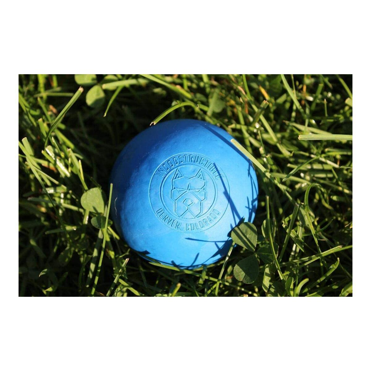 inDOGstructible Dog Ball - Indestructible Dog Toys for Aggressive Chewers Extreme Bounce Durable Non-toxic Chew Toy for Medium to Large Size Breeds 8