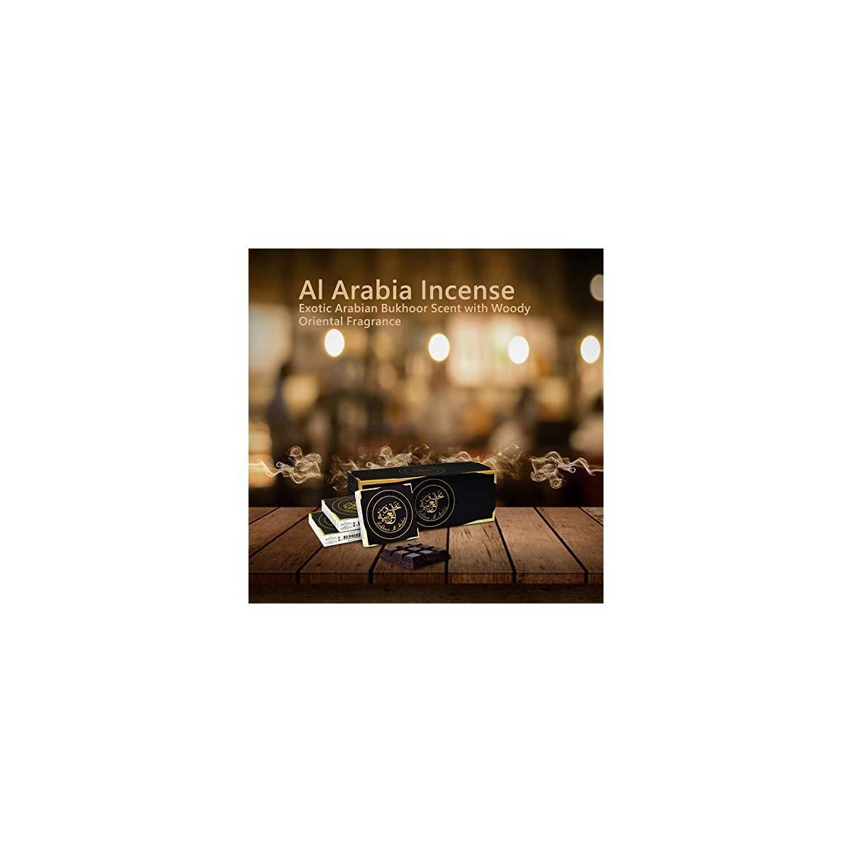 Otoori Bakhoor Al Arabia Incense - Exotic Arabian Bukhoor Scent with Woody Oriental Fragrance 40 gm (3 Pack)