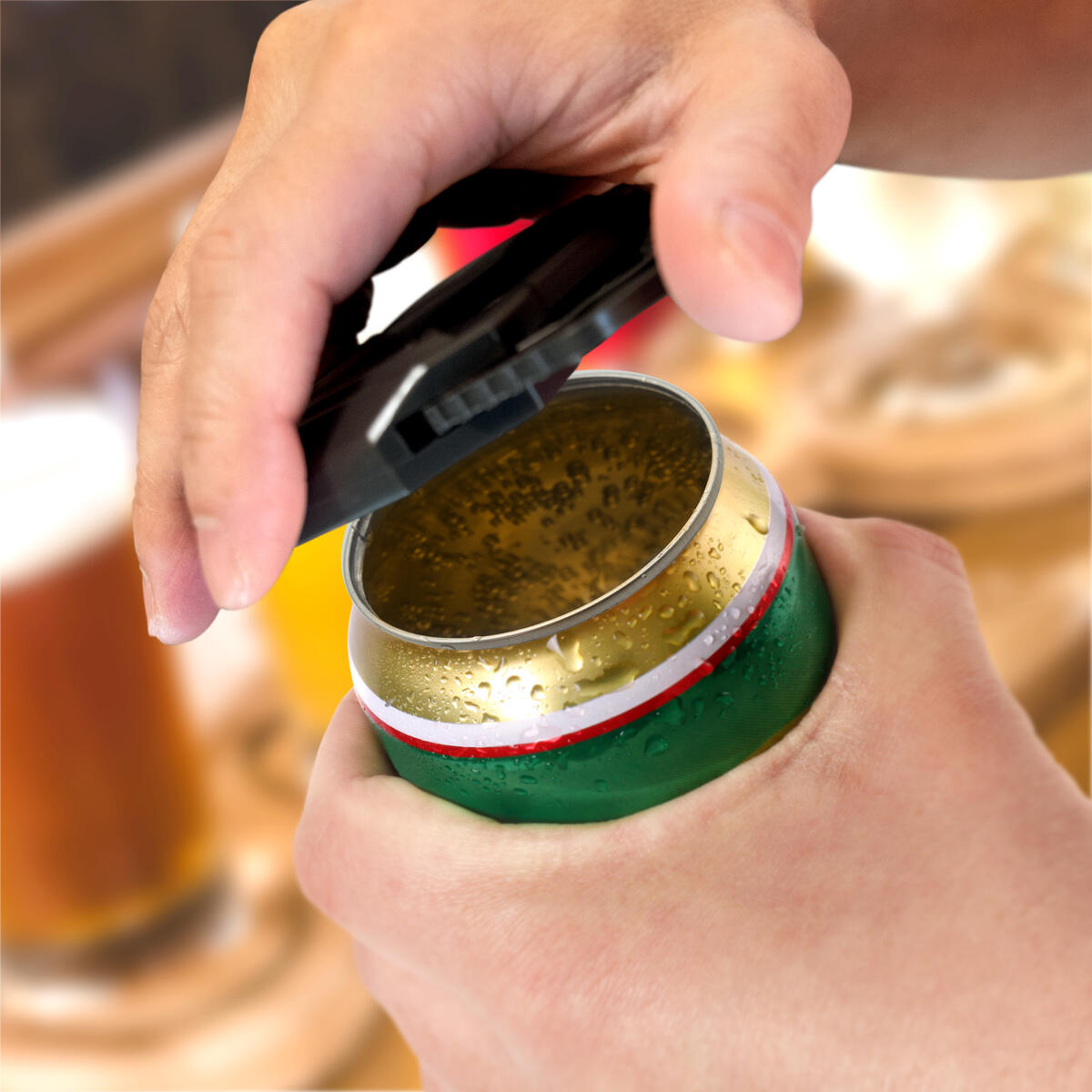 Stainless Steel Beer Can Opener For Topless Beer Cans Pack of 2
