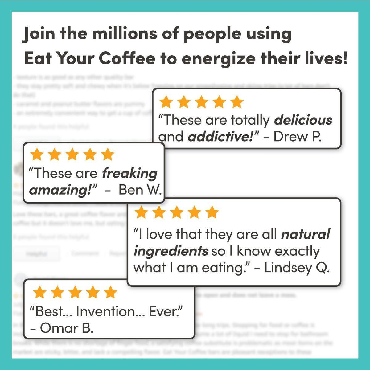 product image Eat Your Coffee Snack Energy Bar - Variety Pack